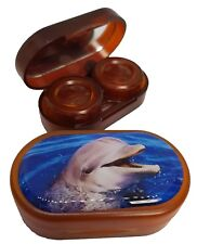 Endangered Species Mirror Case Contact Lens Soaking Storage Case - Dolphin