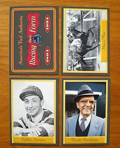 1994 Horse Racing Promo Cards (4 x 2 SETS) America's Turf Authority Racing Forum