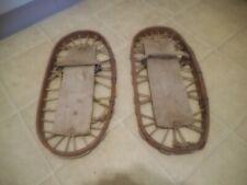 "Vintage Mini Snowshoes 18 1/2"" Long 9 1/2"" wide No Brand Good Condition"