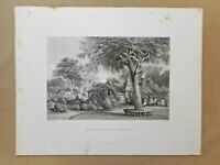 """Antique Australian Engraving """"Home Stations"""" N Chevalier - Edwin C Booth 1874"""