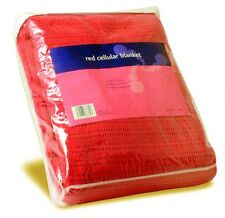 NEW Cotton Red Cellular Blanket 200cm x 150cm ,FIRST AID, PARAMEDIC, AMBULANCE,