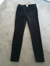 White Stuff Black Jeggings Brushed Cotton Size 10