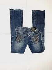 Miss Me Jeans Silver Studded Embellished Jeans Size 25 Boot Cut - Inseam 29