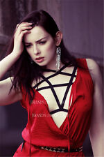 Goth Funny Witchy Exotic   Lingerie Body Harness,Cage Bra,Bondage Harness,