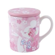 Tokyo Disney Resort Minnie Mouse Cherry Blossoms Lidded Mug Cafe Cup Pink TDS
