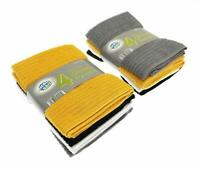Pack of 4 Large Microfiber Kitchen Tea Towel Set Dish Drying Super Absorbent