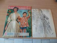 FEMMES D'AUJOURD'HUI AVEC PATRON 1957 N° 635