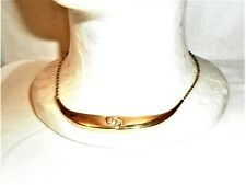 "Trifari VGT Fashion Women Gold Plated 16"" Choker Necklace W/ Carved Swirl motif"