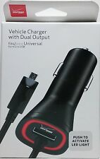 Verizon OEM Micro USB Car Charger with 3.4 Amp & LED Light Samsung Galaxy S7