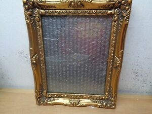 "BEAUTIFUL ORNATE PHOTO PICTURE FRAME 8""X10"" Ant. Gold Finish With Glass"