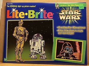 1998 Lite Brite STAR WARS Picture Refill Sheets Complete Unused 4791/4529