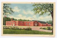 Postcard Kingston NY New York State Armory Building Street View Linen 1940's