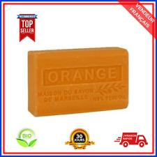 Savon De Marseille Orange Au Beurre De Karité Pure Bio 100% Naturel De 125g
