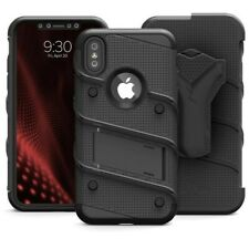 iPhone XR Zizo BOLT Case Cover, Clip Holster and Tempered Glass 9H