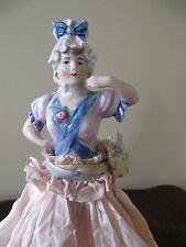 Lovely Half Doll Antique Lamp~Wearing Hat & Extended Arm~Germany/German 6314
