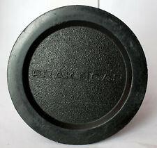 "Prakticar soft plastic front lens cap to 50mm f2.4 ""pancake"" lens."