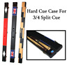 Handmade Snooker Pool Hard Cue Case For 3/4 Split Cue VARIOUS DESIGNS - UK FLAG