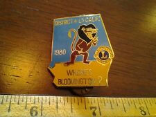 LIONS CLUB COLLECTORS PIN 1980 WHERE'S BLOOMINGTON? DISTRICT 4-L5 CALIFORNIA