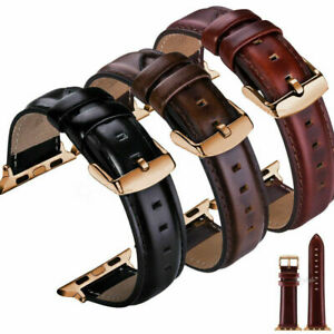 Geniune Leather Watch Band Wrist Strap for Apple iWatch Series 6 5 4 3 2 1 SE