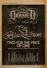 Damned The Black Album Tour Advert NME Cutting 1980
