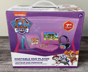 """PAW Patrol 7"""" Portable DVD Player with Carrying Bag and Headphones - Pink"""