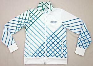 Nike Golf Full Zip Jacket Wyndham Championship White Blue Green SMALL Worn 1X!