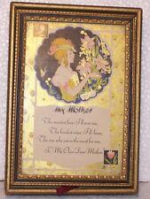 VINTAGE TRINKET/JEWELERY BOX WITH FRAMED MOTHER POEM