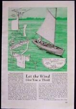 Canoe/Rowboat removable KEEL RIG for Sailing Sailboat 1946 How-To design PLANS