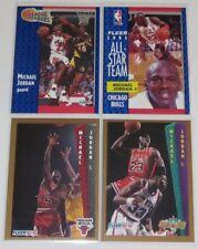 1991-93 Michael Jordan Chicago Bulls Fleer Basketball 4-Card Mixed Lot NM Cond