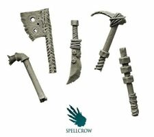 Orc Close Combat Weapon x5, Good for Warhammer 40k Orks, Spellcrow Bitz