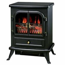 1850W FLAME EFFECT LOG BURNING STOVE HEATER ELECTRIC FIRE PLACE FIREPLACE FAN .