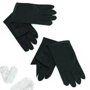 Kids Gloves Magician Style Mime Book Day Week Halloween Black/White Accessory