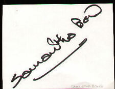 SAMANTHA BOND   signed paper  UACC RD
