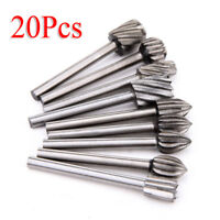 20pcs/set HSS Router Bits Wood Cutter Milling Fits Dremel Rotary Engraving Tool