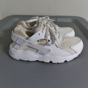 Nike Huarache Run Youth Boys Size 1Y Shoes White Low Top Athletic Sneakers