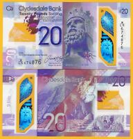 Scotland 20 Pounds p-new 2020 Clydesdale Bank UNC Polymer Banknote