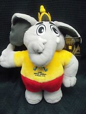 "1998 13th Asian Olympic Games Bangkok THAILAND 12"" Plush ELEPHANT Mascot w/ tags"