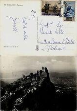 SAN MARINO-Cartolina Colombo+Vedute(349+373) x Pistoia 3.6.1952