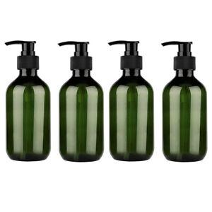 4x 500ML Refillable Empty Bathroom Liquid Soap Dispenser Bottles with Hand Pump