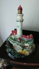 "Lenox 1998 10"" Tall x 10"" Round Base Light At Land'S End Lighthouse Sculpture"