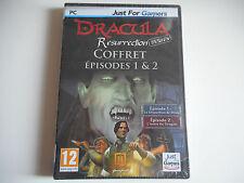 JEU PC CD-ROM  DVD ROM NEUF - DRACULA RESURRECTION COFFRET EPISODES 1 & 2