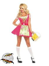 New Oktoberfest Womens Beer Garden Gretal Dress Halloween Costume