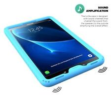 Galaxy Tab A 10.1 Silicone Case Soft Gel Protective Back Cover Blue