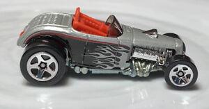Hot Wheels Team: Ford Racing Deuce Roadster Silver 1/64 Diecast Loose