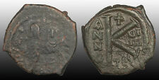 Justin Ii & Sophia Half Follis Thessalonica mint 573-574 Ad (Year 9) Sb 366