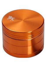 BLACK LEAF grinder in alluminio 4 pezzi 50 mm ALLUMINIO Mulino 4tlg. Mulino spezie arancione