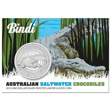 2013 Australian Saltwater Crocodile - Bindi 1oz .999 Silver Frosted UNC Coin