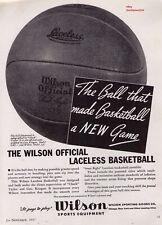 "1937 Wilson Basketball's ""Chuck Taylor Autographed"" Vintage Print Advertisement"