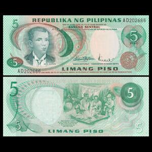Philippines 5 Pesos, 1969, P-148,  UNC