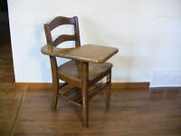 Vintage Schoolhouse Chair Student Desk Oak Wood Rustic Farmhouse Decor 20+ Avail